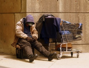 - homeless man - May urged to halt implementation of Universal Credit scheme