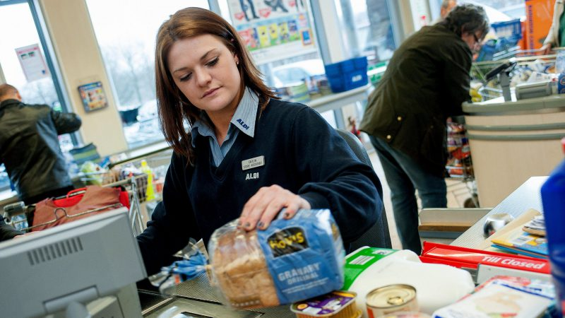 UK inflation rises more than expected  - aldi checkout tills discounters prices inflation 800x450 - UK inflation rises more than expected