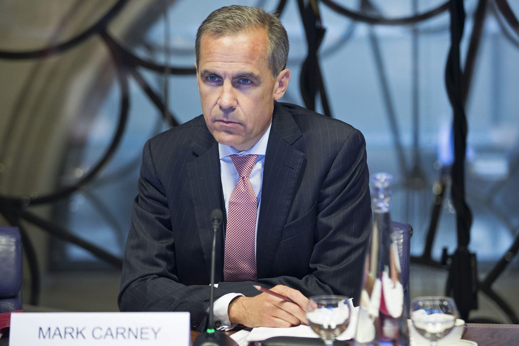 - mark carney portada tipos 1024x683 - BoE's Carney dials back on rate hike expectations, pound drops