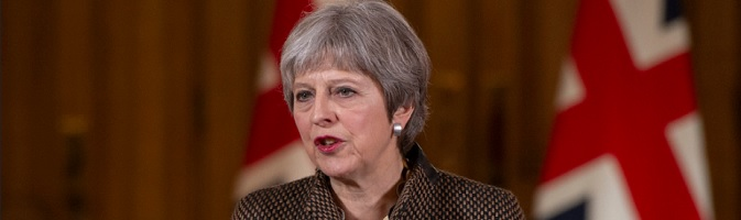 Pound plunges as EU rebuffs May's call for short Brexit delay